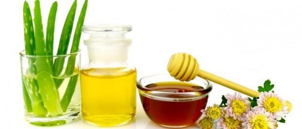 Haarkur mit Honig und Aloe Vera